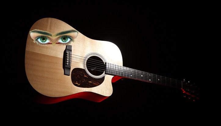 Гитара с глазами